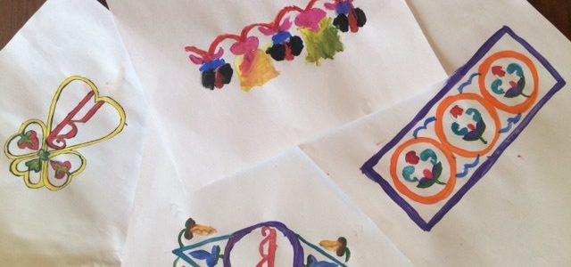 Наши дети на занятиях по каллиграфии и орнамента.